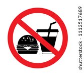 no eating and no drinks allowed ... | Shutterstock .eps vector #1112517689