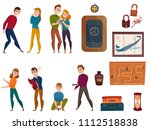 human characters during quest...   Shutterstock .eps vector #1112518838