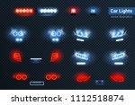 automotive led lights realistic ...   Shutterstock .eps vector #1112518874