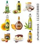 set of realistic vegetable oils ... | Shutterstock .eps vector #1112518883