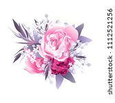 pink gentle peony wedding... | Shutterstock .eps vector #1112521256