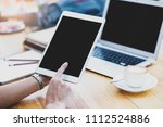 doctor asian women searching... | Shutterstock . vector #1112524886