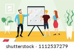 creative team standing and... | Shutterstock .eps vector #1112537279