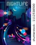 big city nightlife with street...   Shutterstock .eps vector #1112538500
