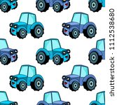 cute kids car pattern for girls ... | Shutterstock . vector #1112538680