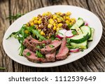 healthy dinner. bowl lunch with ... | Shutterstock . vector #1112539649