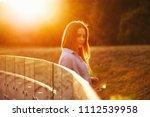 beautiful girl with long hair   Shutterstock . vector #1112539958
