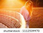 beautiful girl with long hair   Shutterstock . vector #1112539970