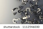 black question marks background ... | Shutterstock . vector #1112546030