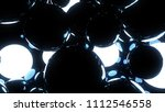 glowing and glossy black... | Shutterstock . vector #1112546558