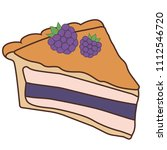 delicious piece of cake pie | Shutterstock .eps vector #1112546720