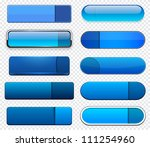 set of blank blue buttons for... | Shutterstock .eps vector #111254960