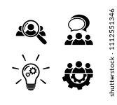 teamwork icon set. human... | Shutterstock .eps vector #1112551346