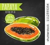 fresh papaya fruit bright...   Shutterstock .eps vector #1112555354