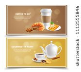 two horizontal banners with... | Shutterstock .eps vector #1112555846
