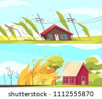 set of two horizontal natural... | Shutterstock .eps vector #1112555870