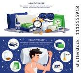 healthy sleep horizontal... | Shutterstock .eps vector #1112555918