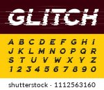 vector of glitch modern... | Shutterstock .eps vector #1112563160