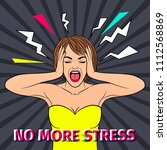 no stress. shocked and scared...   Shutterstock . vector #1112568869