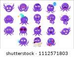funny octopus character emoji...
