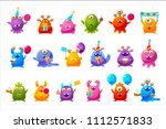 fantastic monsters with... | Shutterstock .eps vector #1112571833
