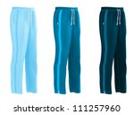 sweatpants set | Shutterstock .eps vector #111257960