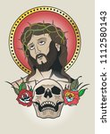jesus christ vector traditional ... | Shutterstock .eps vector #1112580143