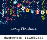 christmas garland with...   Shutterstock . vector #1112582636