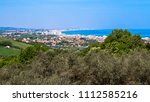 view of the riviera romagnola... | Shutterstock . vector #1112585216