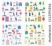 vector backgrounds in flat... | Shutterstock .eps vector #1112591816