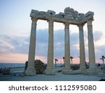apollon temple  side  antalya... | Shutterstock . vector #1112595080
