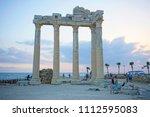 apollon temple  side  antalya... | Shutterstock . vector #1112595083