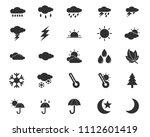 weather icon design... | Shutterstock .eps vector #1112601419