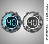 electronic digital stopwatch.... | Shutterstock .eps vector #1112603669