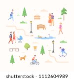 city life constructor   set of... | Shutterstock . vector #1112604989