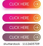 bright pink and orange spectrum ... | Shutterstock .eps vector #1112605709