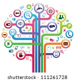 social network tree | Shutterstock . vector #111261728