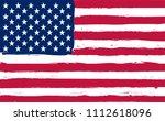 american flag background.vector ... | Shutterstock .eps vector #1112618096
