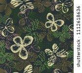 abstract seamless butterfly... | Shutterstock . vector #1112618636