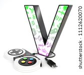 green and purple video game... | Shutterstock . vector #1112620070
