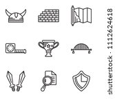 set of 9 simple editable icons... | Shutterstock .eps vector #1112624618