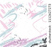 Modern background with pale blue and pink pastel  brushes, spots. White space for your text