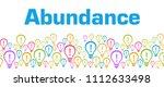 abundance text written over...   Shutterstock . vector #1112633498