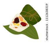 zongzi   chinese rice dumpling | Shutterstock .eps vector #1112638319