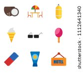 set of 9 simple editable icons... | Shutterstock .eps vector #1112641340