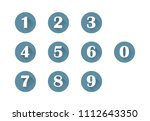 set  icons 0 9 numbers vector... | Shutterstock .eps vector #1112643350