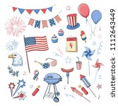 collection by july 4  america's ... | Shutterstock .eps vector #1112643449