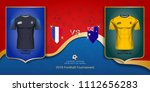 football cup 2018 world... | Shutterstock .eps vector #1112656283