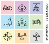 set of 9 simple editable icons... | Shutterstock .eps vector #1112658500