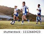 group of female high school... | Shutterstock . vector #1112660423